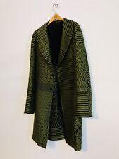 Retail $3450 Haider Ackermann Woven Jacquard Coat in Army Green, L
