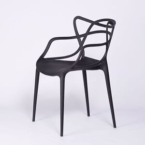 MASTERS INSPIRED MODERN BLACK STACKABLE DINING CHAIR BAR RESTAURANT