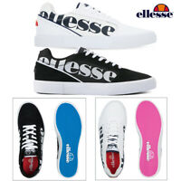 Mens Ellesse Ostuni Trainers Black White Sport Fitness Casual Lace Up Shoes