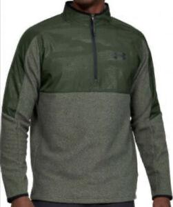 Men's Under Armour ColdGear Infrared ½ Zip Jacket Green Size Medium NEW