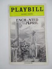 ENCHANTED APRIL PLAYBILL 2003 w/ TICKET STUB NEW YORK CITY BROADWAY