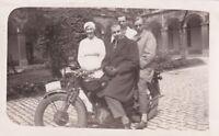 Nurse Doctors motorbike photograph vintage black & white early 20th century #4