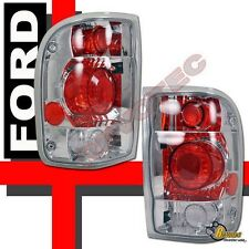 1998-2000 Ford Ranger Pickup Chrome Tail Lights Lamps 1 Pair