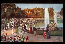 French Tuck Versailles Bassin Neptune fountain park France postcard