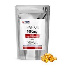 Omega 3 aceite de pescado 1000mg cápsulas (365 cápsulas) corazón sano