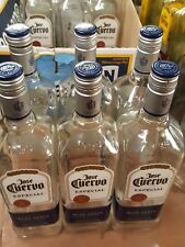 Lot of 6 Empty 1 Liter Glass Jose Cuervo Silver Tequila Bottles With Caps