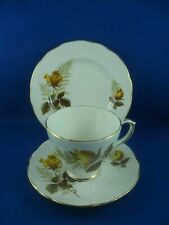 VINTAGE DUCHESS yellow rose and fern design, tea set size cup , saucer & plate