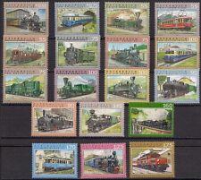 Österreich Lot Jahr 2002 bis 2017, 18 Stück der Eisenbahn - Serie Postfrisch MNH