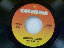"""JOHNNY CASH """"THE BARRON / I WILL DANCE WITH YOU"""" 45"""