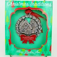 Gloria Duchin New Home First Christmas Holiday Ornament Pewter