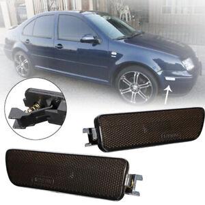 L+R Front Bumper Side Marker Turn Signal Light Lens For VW GOLF GTI JETTA MK4