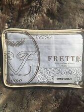 Frette Bali Barong Pizzo Euro Sham White 32x32 Retail$545+tax Italy Macrame Lace