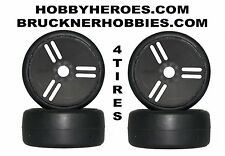NEW 1:8 GRP VELOCITY tires S7. 4 Rubber GT Slicks for speed runs Free shipping!