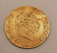 More details for very rare 1818 george iii gold half sovereign