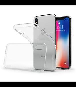 Cover custodia case iphone X apple trasparente morbida silicone TPU ultra slim