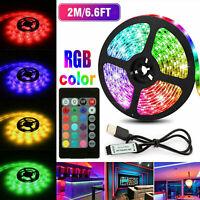 5V USB LED Strip Lights TV Back Light 5050 RGB Color Changing with 24 Key Remote