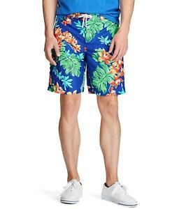 "Polo Ralph Lauren 8.5"" Kailua Board Shorts Mens Medium Blue Multi Print"