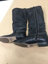 Clarks size 5.5  leather  black ladies womens boots