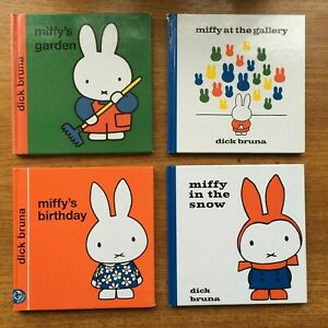 Vintage Miffy Book Bundle (Garden / at the Gallery / in the Snow / Birthday)