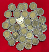 THAILAND BI-METALLIC 10 BAHT LOT OF 25 COIN USED CIRCULATED BIMETAL MIXED DATE