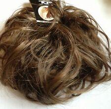 Hair scrunchie for bun or ponytail Large Medium Brown Hair Bun pony Extension