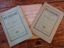 3 N° REVUE ECCLESIASTIQUE DE METZ - 1924 DROIT CANONIQUE VULGATE ST SIEGE