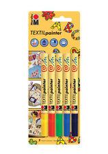 Marabu Textil Painter Marker Pens - Fabric Painting - 5 Pack - (1-2mm)