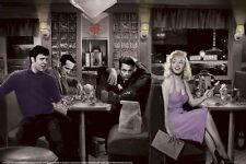 CHRIS CONSANI ~ BLUE PLATE DINER 24x36 ART POSTER Marilyn Monroe Elvis Dean