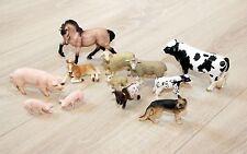 Schleich Tiere Bauernhof Sammlung - Pferde Schweine Kühe Scharfe Hund 12 Tiere