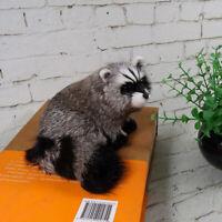 Realistic Simulation Raccoon Plush Model Doll Lovely Lifelike Furry Animal Gift