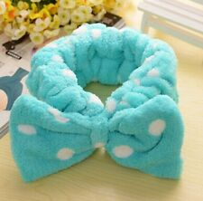HOT Cute Dot Bowknot Elastic Soft Wash Makeup Bath Spa Hair Band Shower Headband