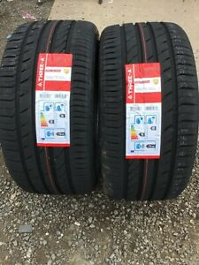NEW 2 X 255 40 ZR18 95Y M+S THREE-A ECOWINGED NEW TYRES AMAZING WET GRIP B NEW