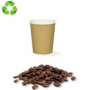 🥃 500 BICCHIERI CAFFE CARTA DA 90ML AVANA BICCHIERINI BIODEGRADABILI COFFEE 🥃