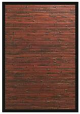 2x3 Anji Mountain Bamboo AMB0085 Modern Bordered Brown Area Rug - Approx 2' x 3'