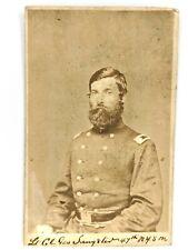 New listing 1862 Civil War CdV Lt. Col Geo. Sangster 47th Nysm Officer Photo Fort McHenry Id