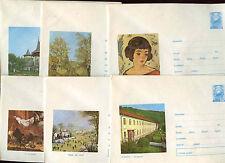 Romania 1972, 6 Unused Stationery Pre-Paid Envelopes Covers #C21441