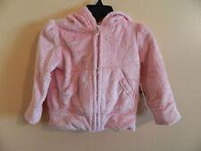 NWT baby Gap girl lite pink full zip faux fur hoodie; size 4T