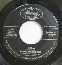 50'S & 60'S 45 Dinah Washington - Dream / Such A Night On Mercury Records