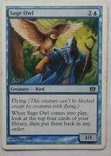 MAGIC THE GATHERING MTG 2003 8th EDITION BLUE SAGE OWL CREATURE ENGLISH CARD