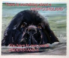 NEWFOUNDLAND DOG GLASSES CAMERA BINOCULAR FIBRE LENS CLEANING CLOTH PRINT