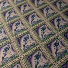 FEUILLE SHEET MONACO POSTE AÉRIENNE PA N°92 x30 HOCKEY JEUX OLYMPIQUES 1968