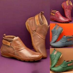 Women Arch Support Sneakers Ankle Boots Flat Leather Casual Boot Shoes Winter