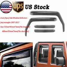 Window Deflector for 2007-2017 JEEP Wrangler JK 4DR Car In-Channel Rain Guards