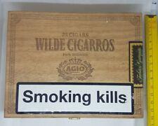 Wilde  Cigarros AGIO, Box empty. Vintage