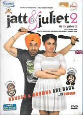 JATT & JULIET 2 -(DILJIT DOSANJH) PUNJABI DVD- FREE ONE MOVIE DVD INSIDE