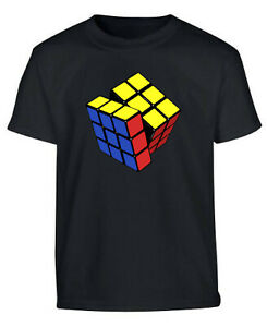 Puzzle Cube Tshirt Gaming Cooper Sheldon 80s T Shirt Geek Gaming T Shirt Black