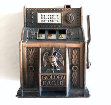 Golden Eagle Figural Slot Machine Functional Die Cast Metal Pencil Sharpener
