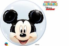 24in Double Bubble Mickey Head - Mouse Balloon Helium Birthday Party 24
