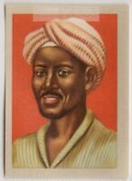 Native Sahara African Moor Man  In Period Clothing Vintage Trade Ad Card
