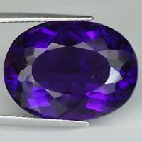 10.06CT Purple Amethyst Crystal Healing Stones Oval Cut 14x10MM Loose Gemstones